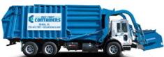 Front load dumpster truck